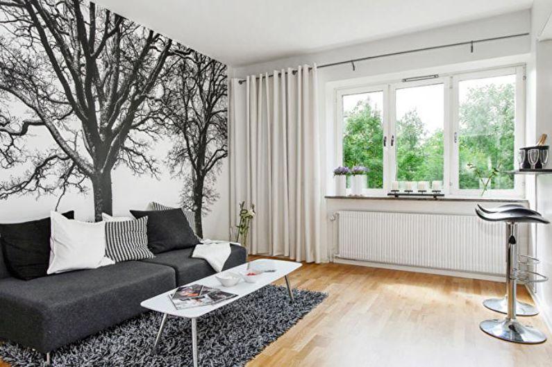 Дизайн однокомнатной квартиры 30 кв.м. - Цветовые решения