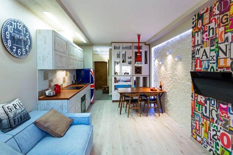 Дизайн интерьера однокомнатной квартиры 30 кв.м. - фото