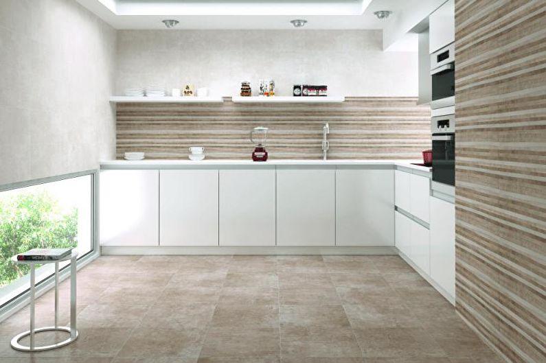 Плитка для кухни на пол - Плитка без эмали
