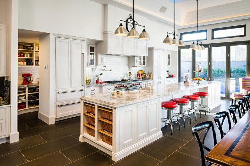 Плитка для кухни на пол - фото