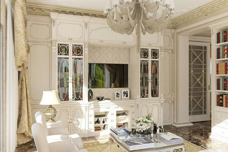 Гостиная в загородном доме в стиле прованс - Дизайн интерьера