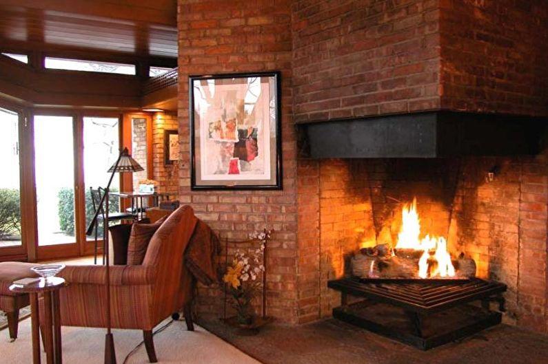 Дизайн гостиной в загородном доме - Мебель и декор