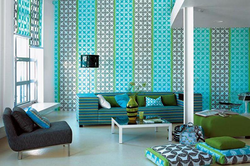 Комбинирование обоев в гостиной - Влияние цветов