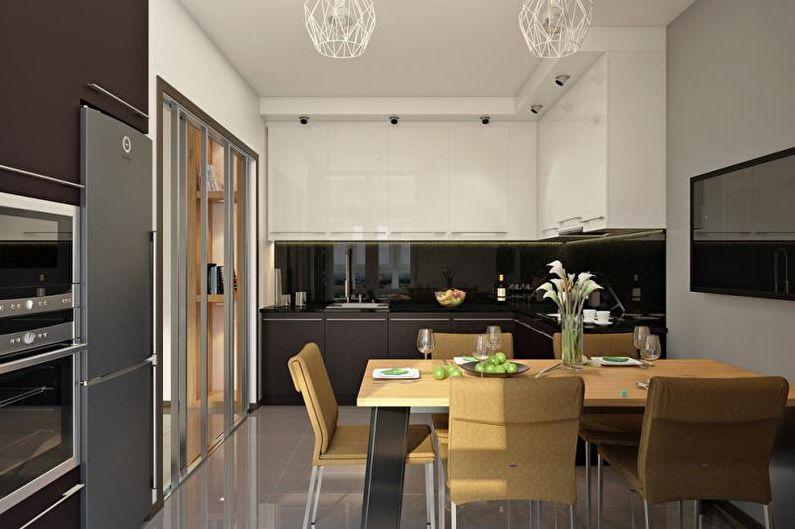 Кухня - Дизайн трехкомнатной квартиры