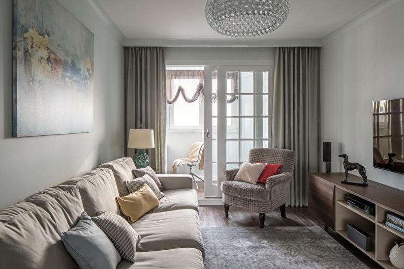 Гостиная - Дизайн трехкомнатной квартиры