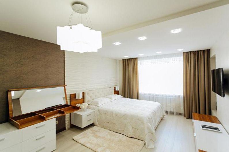 Спальня - Дизайн трехкомнатной квартиры