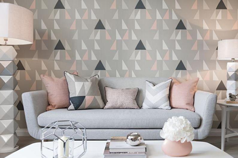 Как визуально улучшить комнату с помощью обоев