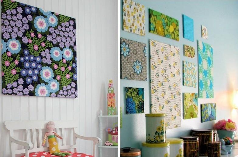 Картины для интерьера своими руками - Текстиль