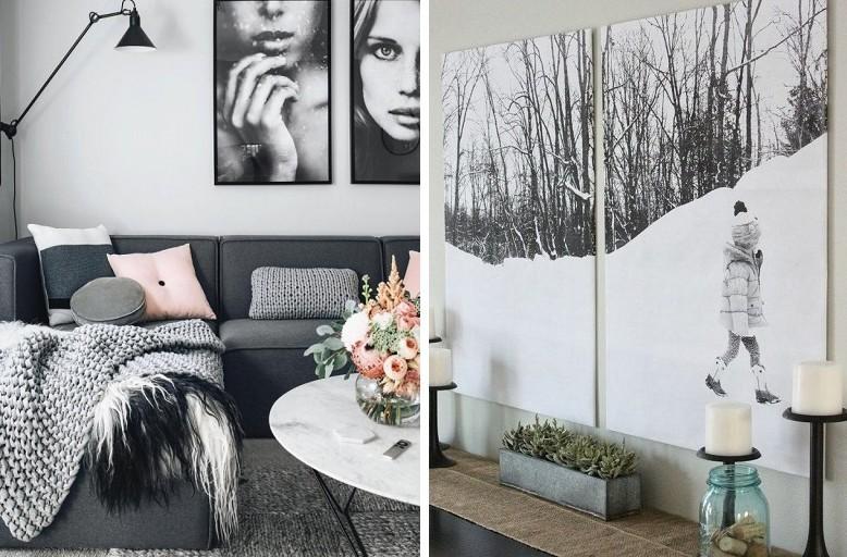 Картины для интерьера своими руками - Фотопечать, цитаты в рамке