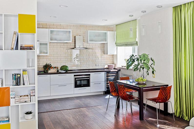 Светлая кухня в современном стиле - Дизайн интерьера