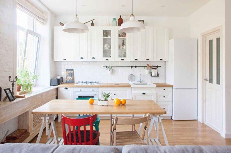 Светлая кухня в скандинавском стиле - Дизайн интерьера