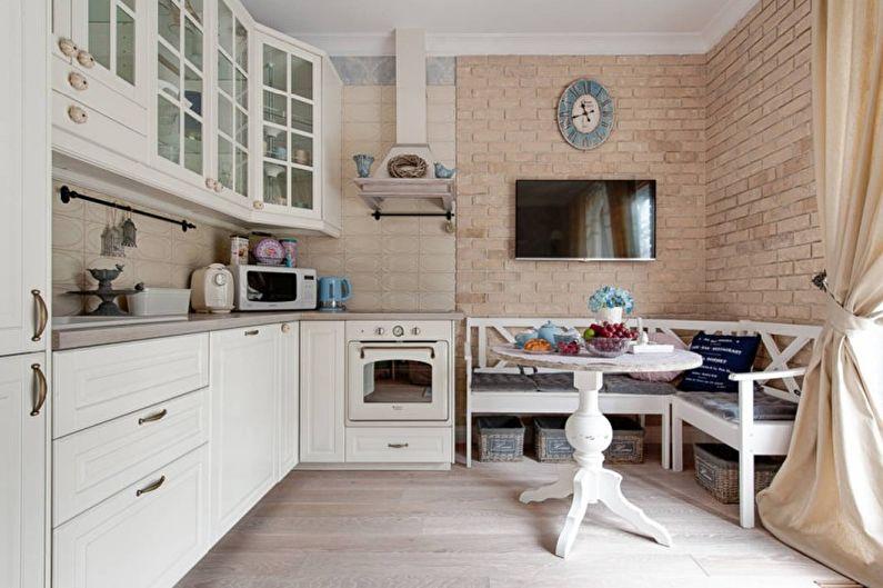 Светлая кухня в стиле прованс - Дизайн интерьера