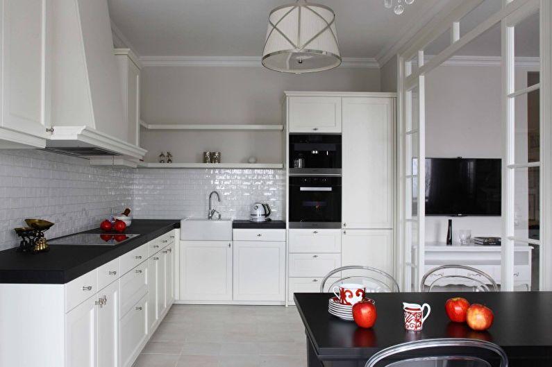 Дизайн кухни в светлых тонах - Отделка пола