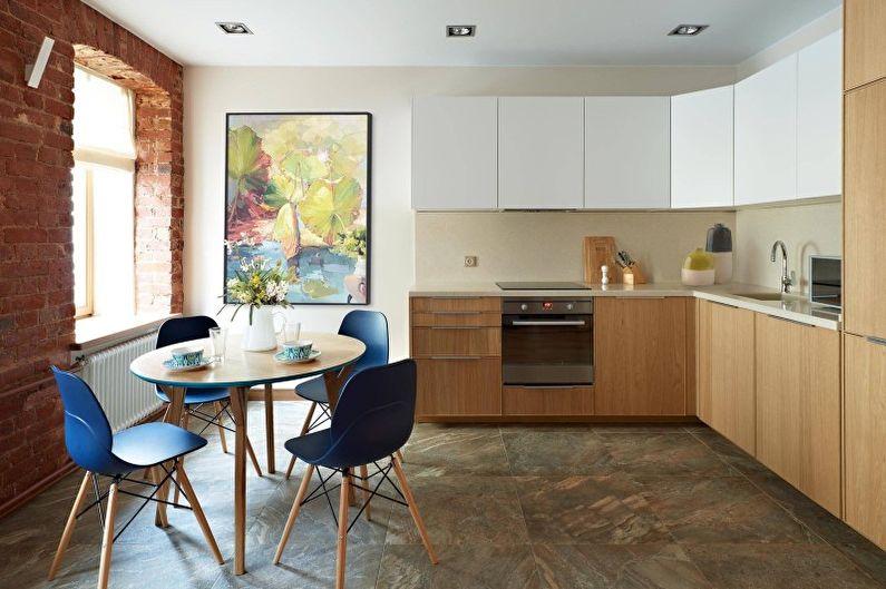 Дизайн кухни в светлых тонах - Отделка стен и фартука