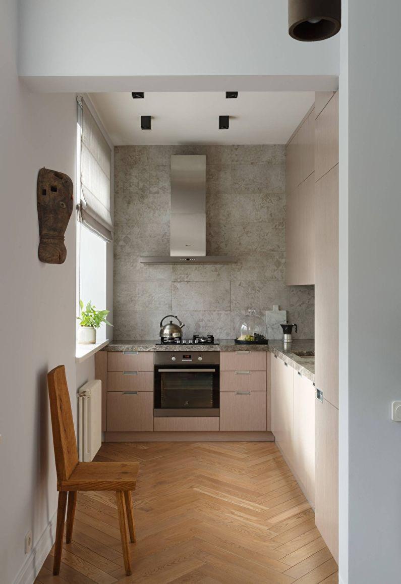 Дизайн интерьера кухни в светлых тонах - фото