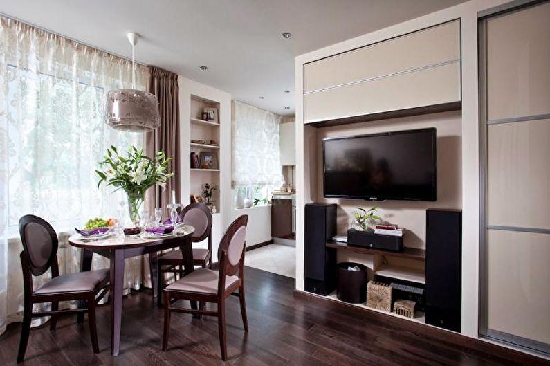Дизайн однокомнатной квартиры 33 кв.м. - Встроенные шкафы