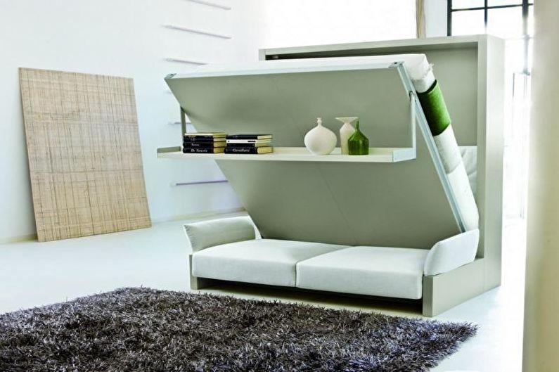 Дизайн однокомнатной квартиры 33 кв.м. - Мебель-трансформеры