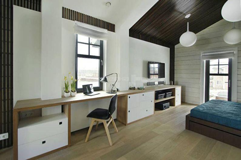 Дизайн однокомнатной квартиры 33 кв.м. - Подоконник вместо стола