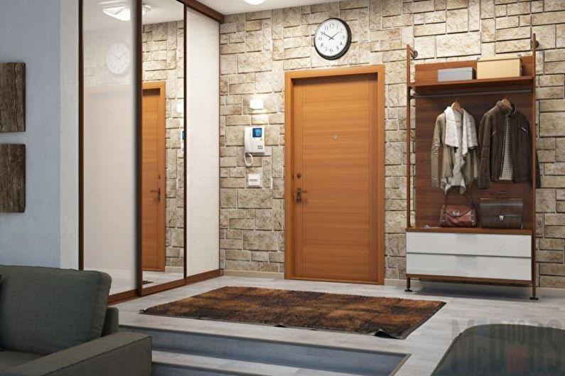 Прихожая - Дизайн однокомнатной квартиры 33 кв.м.