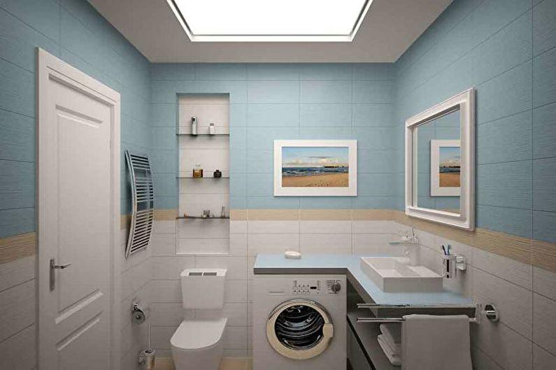 Ванная комната, санузел - Дизайн однокомнатной квартиры 33 кв.м.