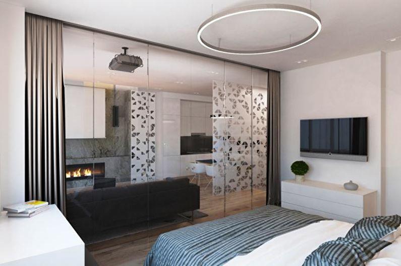 Спальня-гостиная - Дизайн однокомнатной квартиры 33 кв.м.