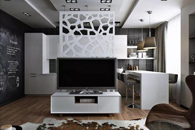 Дизайн интерьера однокомнатной квартиры 33 м2 - фото