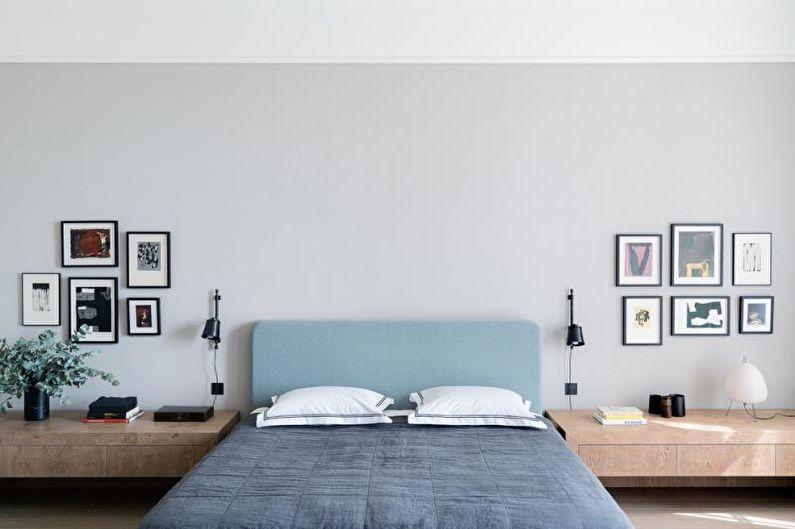 Белая спальня в скандинавском стиле - Дизайн интерьера