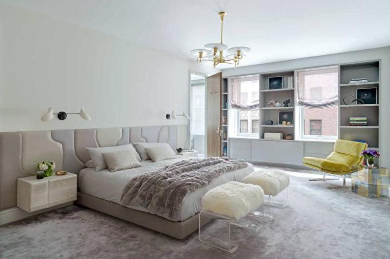 Дизайн белой спальни - Отделка пола