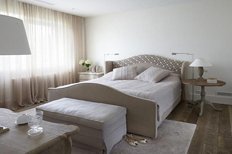 Дизайн белой спальни - Отделка стен