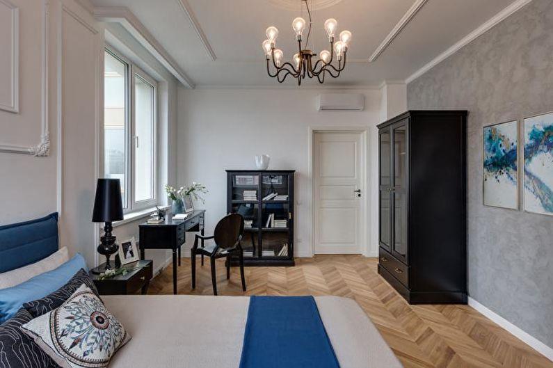 Дизайн белой спальни - Отделка потолка