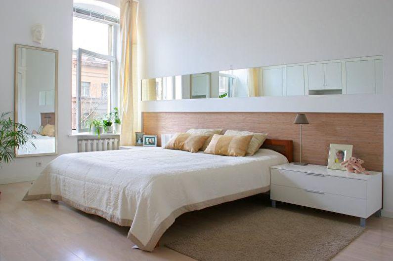Дизайн интерьера белой спальни - фото