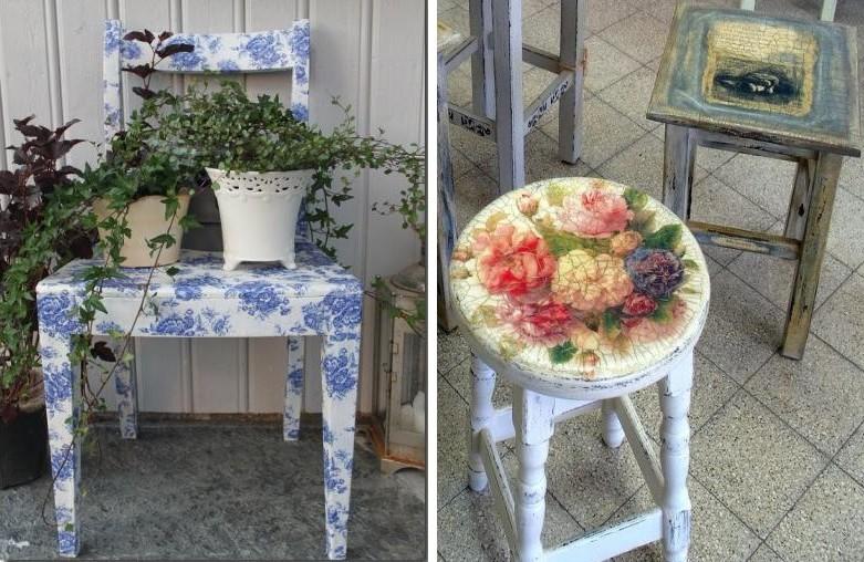 Декупаж мебели своими руками - Декупаж стульев