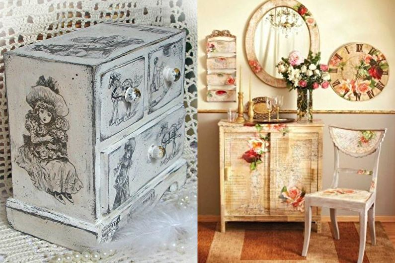 Декупаж мебели - красивые фото и идеи