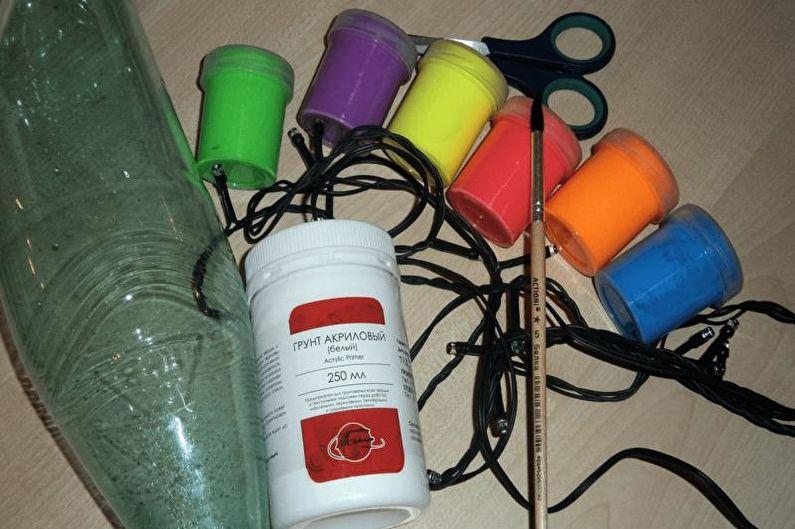 Поделки из пластиковых бутылок своими руками - Шторы и гирлянды