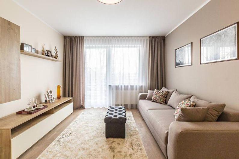 Стандартные вертикальные шторы - Дизайн штор для гостиной