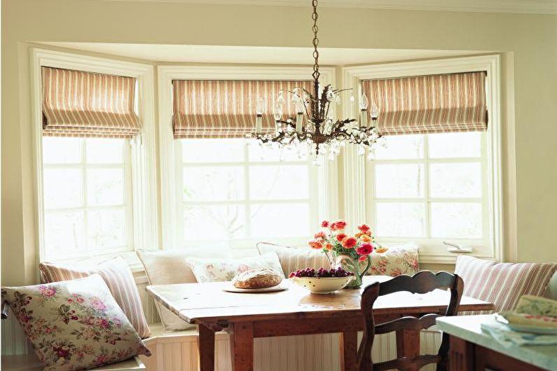Римские шторы - Дизайн штор для гостиной