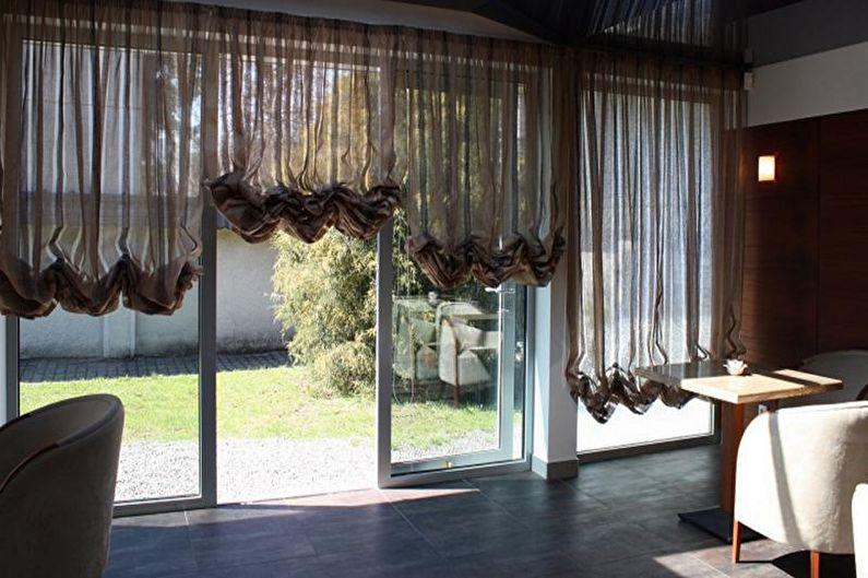 Австрийские шторы - Дизайн штор для гостиной