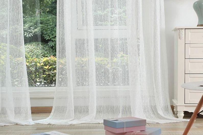 Дизайн штор для гостиной - Тюль