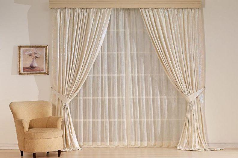 Дизайн штор для гостиной - Органза