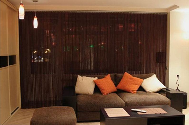 Дизайн штор для гостиной - Кисея