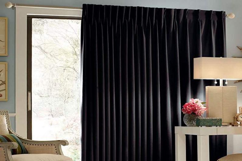 Дизайн штор для гостиной - Блэкаут