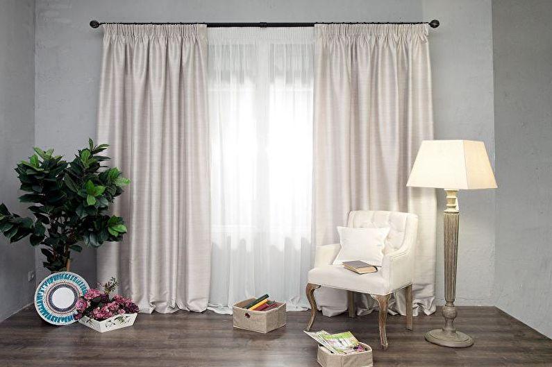 Дизайн штор для гостиной - Тафта