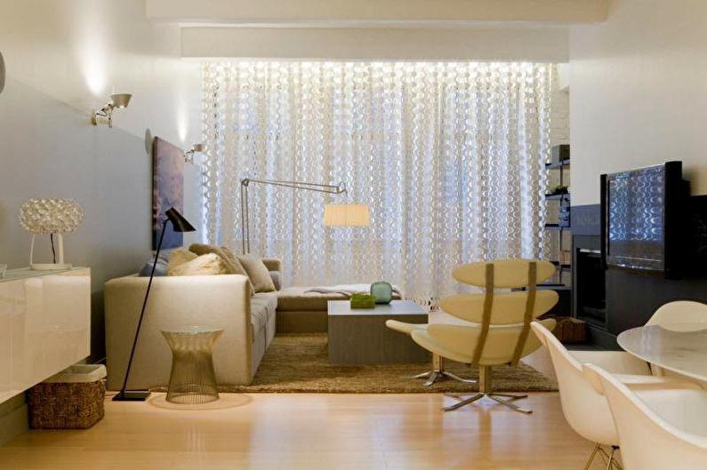 Дизайн штор для гостиной - фото