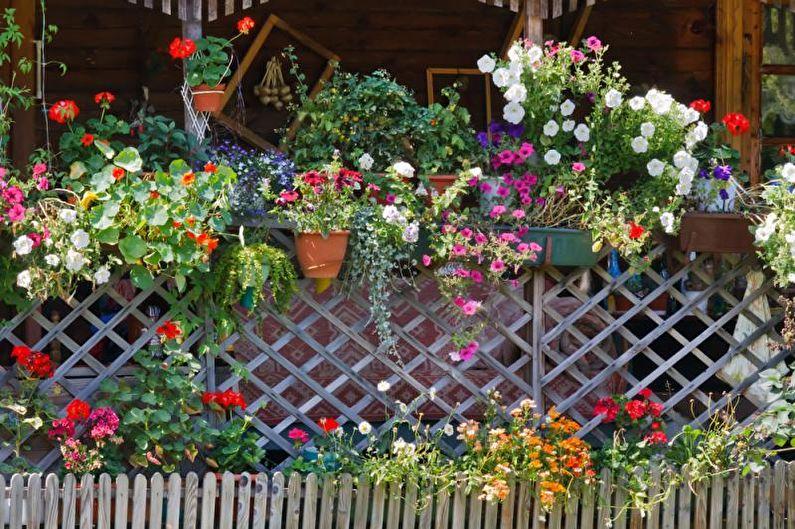 Цветы для дачи - Вертикальный цветник