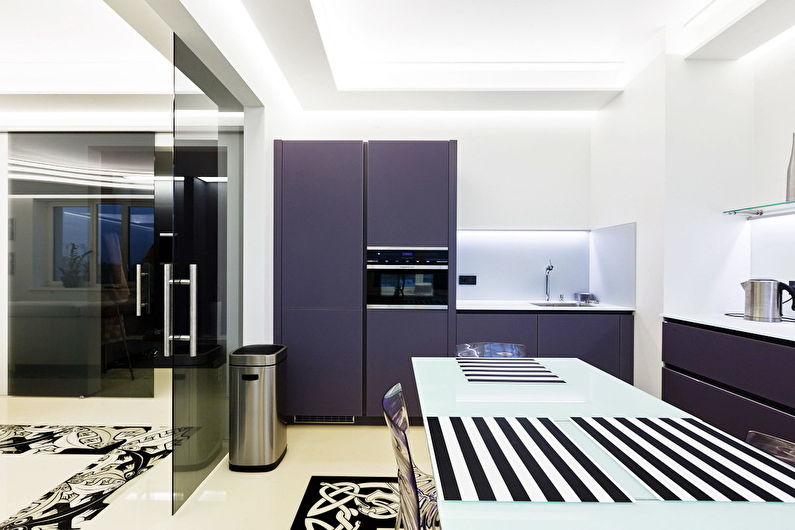 Дизайн кухни в стиле хай-тек - Отделка стен