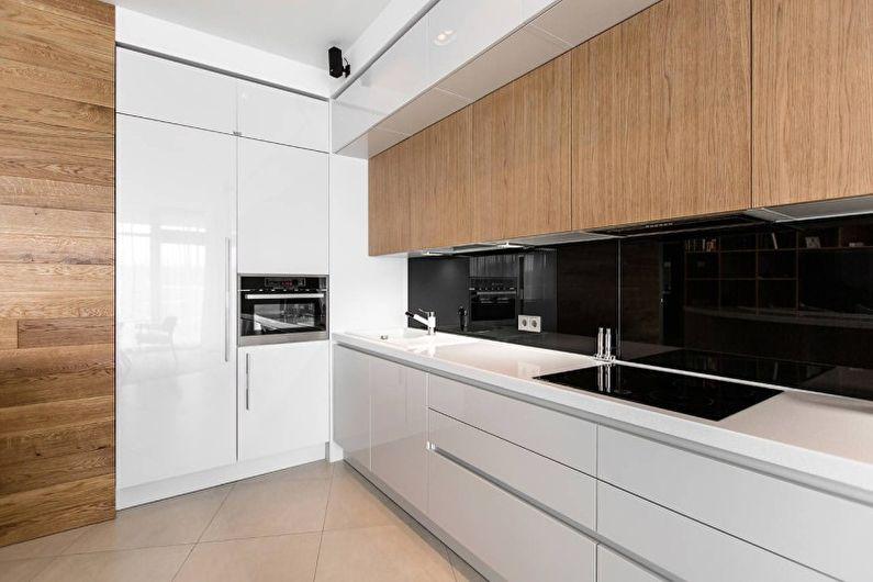 Дизайн интерьера кухни в стиле хай-тек - фото