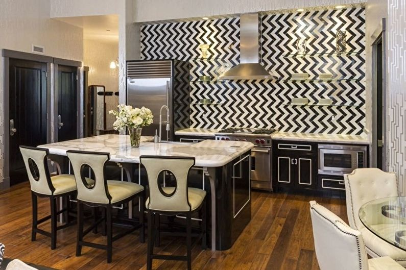 Дизайн кухни в стиле арт-деко - Особенности