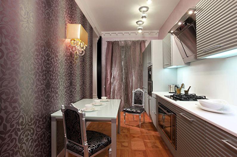 Фиолетовая кухня в стиле арт-деко - Дизайн интерьера