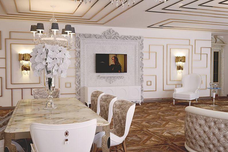 Дизайн кухни в стиле арт-деко - Отделка стен