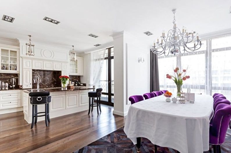 Дизайн кухни в стиле арт-деко - Мебель